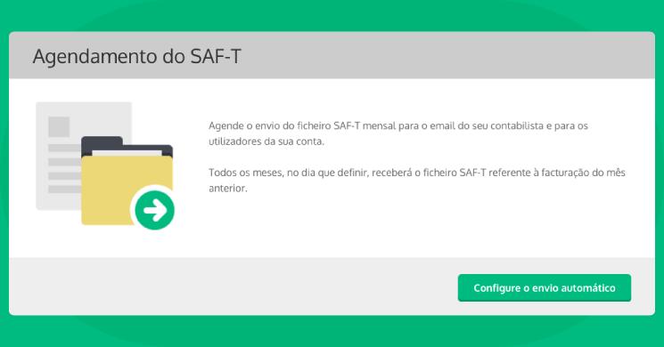 Configure o agendamento do SAF-T