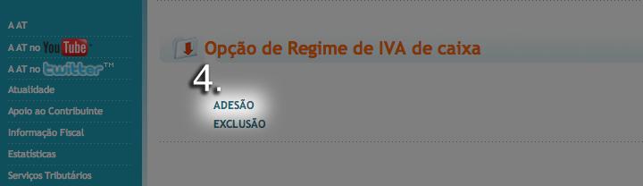 Aderir ao regime de IVA de caixa